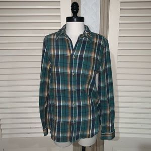 Mother plaid shirt button down